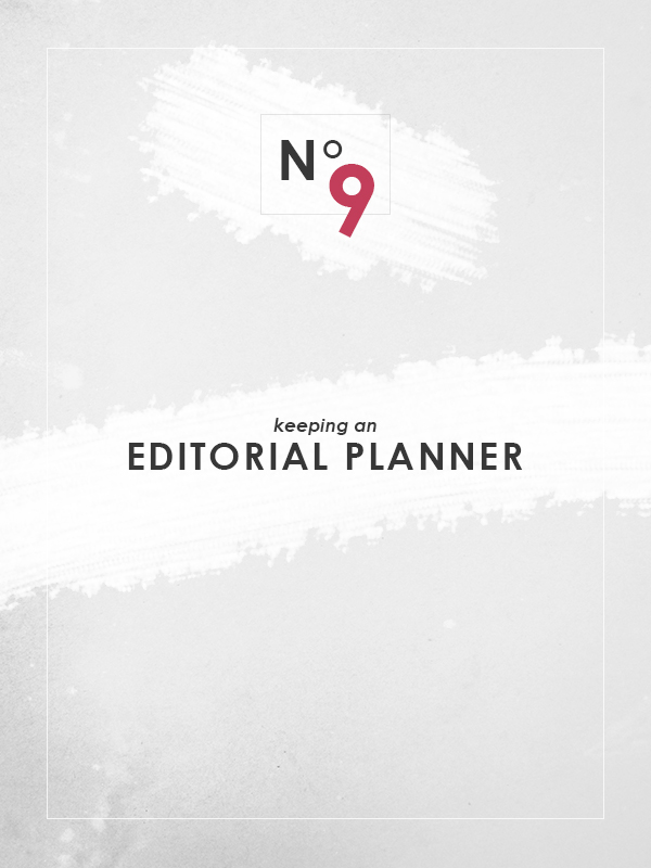 Keeping an Editorial Planner via Of Trees and Hues